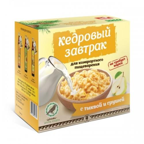Завтрак кедровый для комфортного пищеварения с тыквой и грушей  г. Архангельск