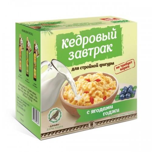 Завтрак кедровый для стройной фигуры с ягодами годжи  г. Архангельск